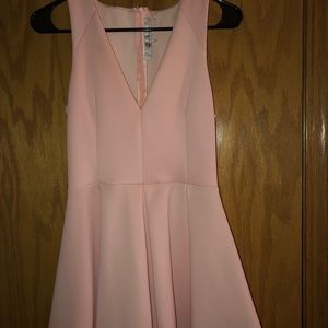 Beautiful blush pink V neck dress